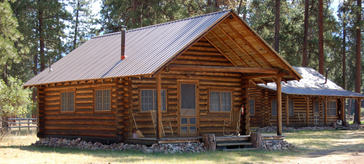 Two of the ranch's four cabins.